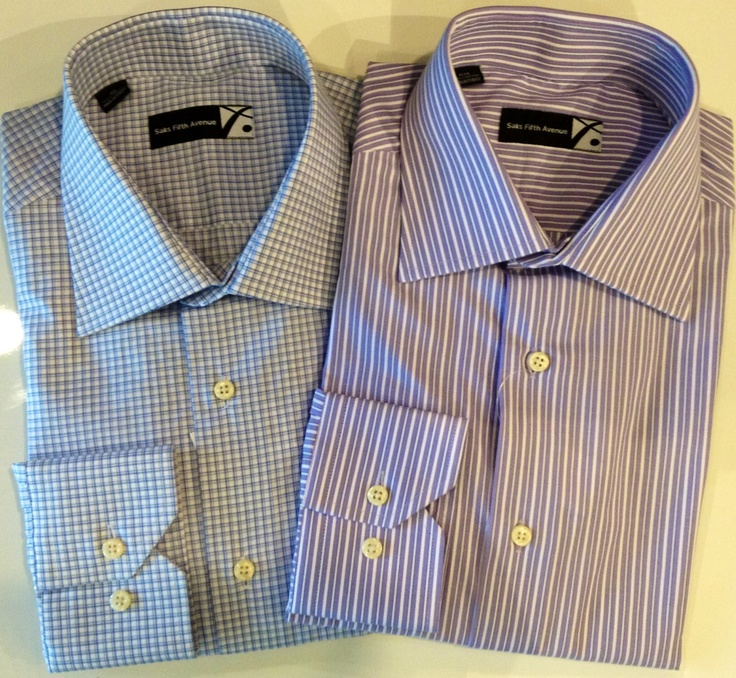 Sfamc dress shirts with button down collars.