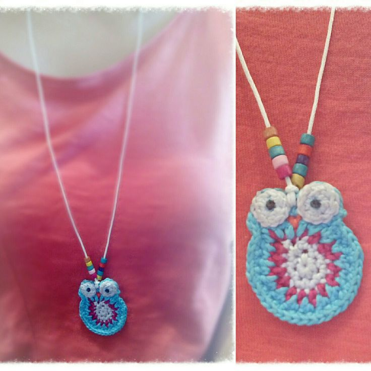 A new owl ...hanging from waxed cotton with beads....choose how YOU want it and place your order!...