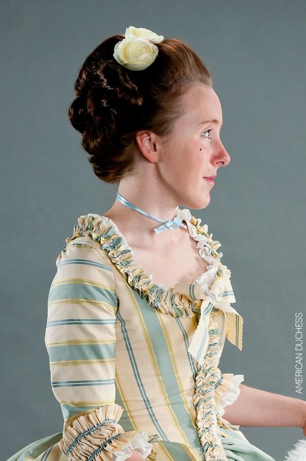 American Duchess:Historical Costuming: V212: Georgian Hair Hopping | Historical Costuming and sewing of Rococo 18th century clothing, 16th century through 20th century, by designer Lauren Reeser