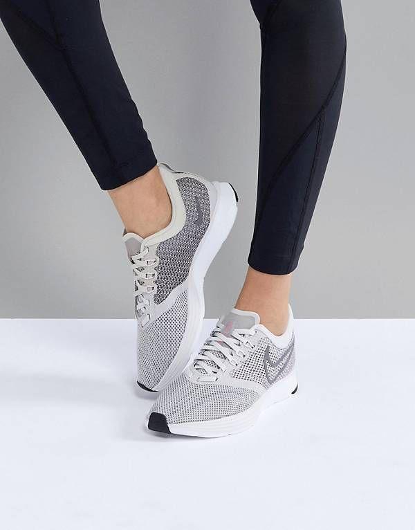 buy popular dfb1c ee037 Nike Running Air Zoom Strike Trainers In Grey ...
