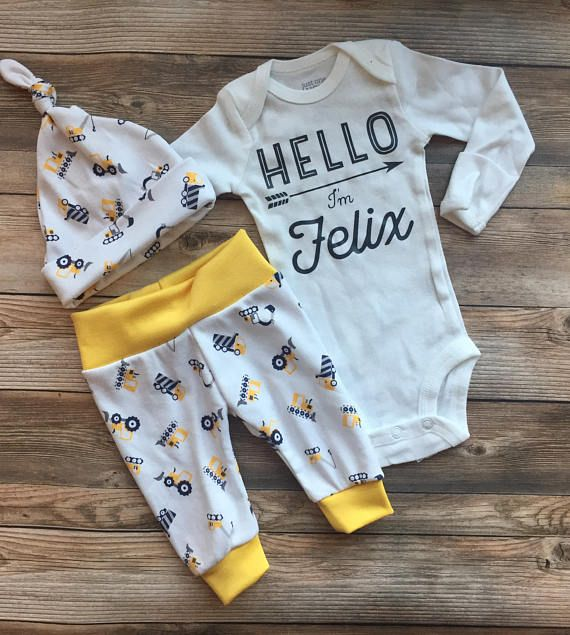 Newborn Baby Boys Navy Dinosaur Print Infant Gown Coming Home Outfit