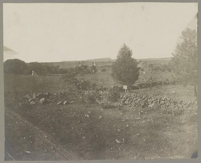 Gettysburg, battlefield of, Scene of Pickett's charge, 974