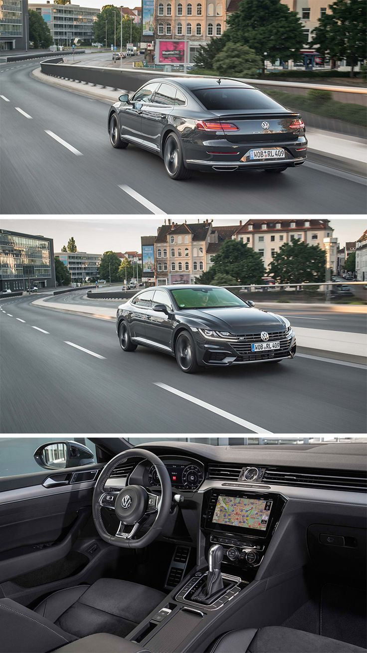 The 2019 Volkswagen Arteon's design is a big win. Its seamless, wide-banded front grille rounds out into high shoulders and a low roofline before shooting rearward to provide a sharp profile