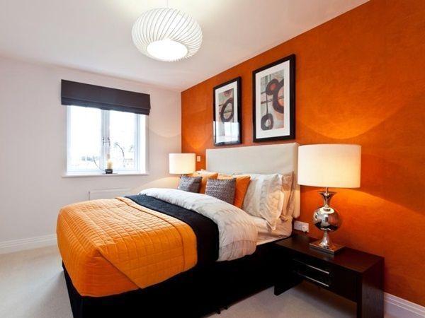 White Orange Bedroom ideas for Noticeable Bedroom Features ...