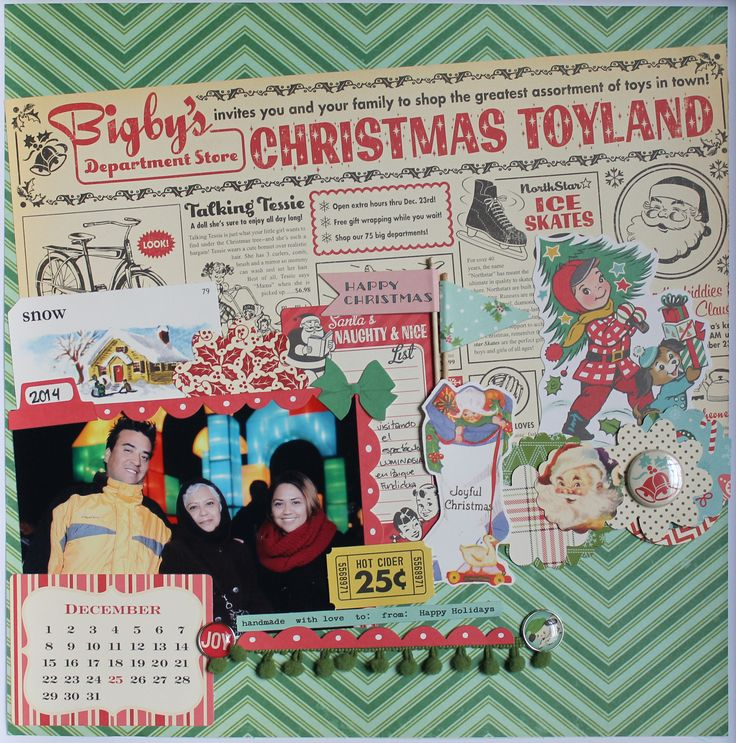 "CHRISTMAS TOYLAND by Nannys Rodriguez using ""MAKE IT MERRY"" collection by @oct_afternoon #octoberafternoon #scrapbook #layout #christmaslayout #xmas"