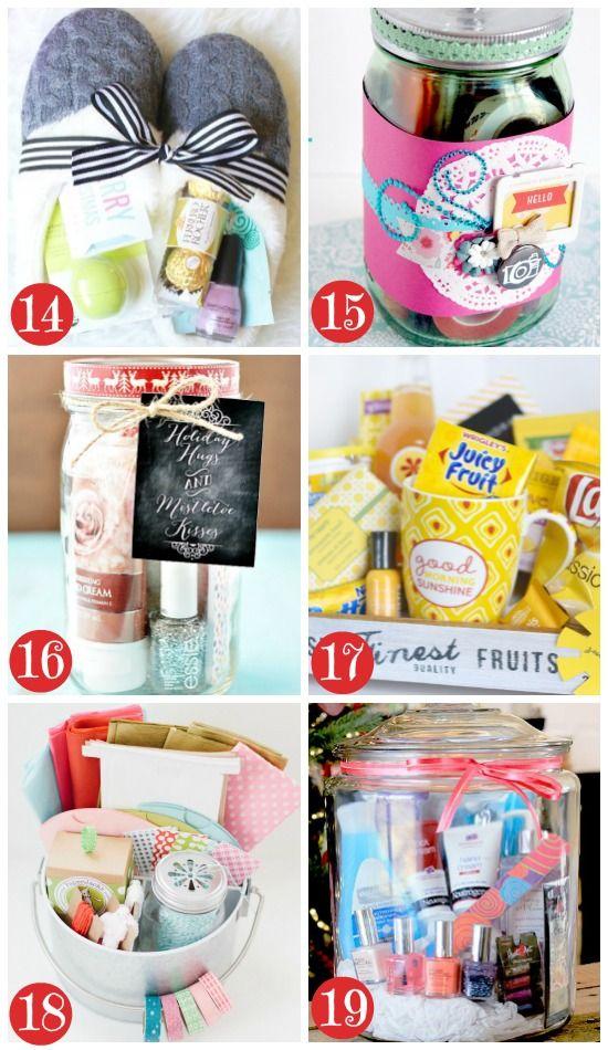 Best 25 gift baskets for women ideas on pinterest gift for Diy christmas gift packages