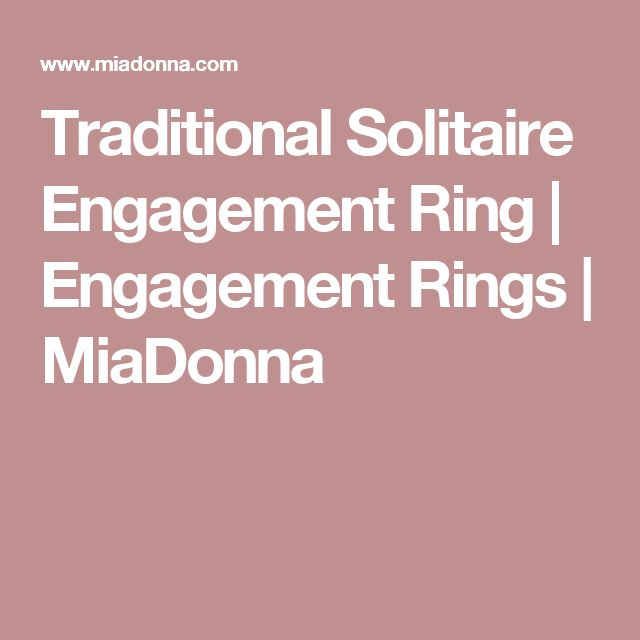 Traditional Solitaire Engagement Ring | Engagement Rings | MiaDonna