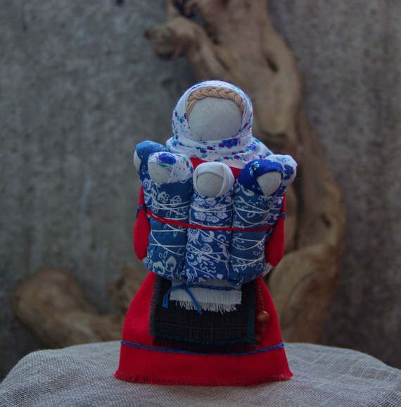folk doll Family. от MagicLaceDolls на Etsy