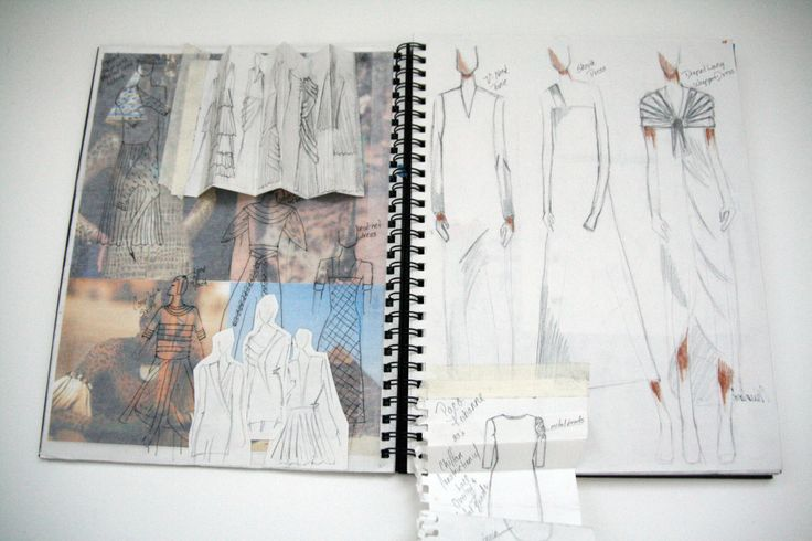 Fashion Sketchbook - fashion sketches; creative fashion design process; fashion portfolio // Nichelle Singley