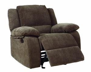 Homelegance 9725-1 Lucienne Collection Dark Olive Microfiber Glider Recliner Chair