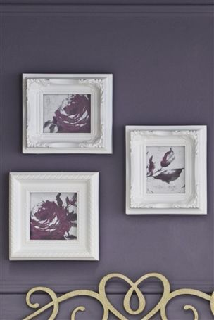Set Of 3 Ornate Mini Frames
