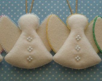 Insieme di feltro ornamenti per l'albero di Natale 3 di Uzornosti