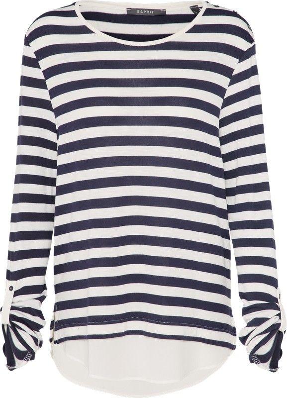 Esprit Collection Pullover mit blusenartigem Saum in blau bei ABOUT YOU bestellen. ✓Versandkostenfrei ✓Zahlung auf Rechnung ✓kostenlose Retoure