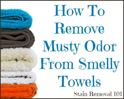 How to remove musty odor from smelly towels {on Stain Removal 101}