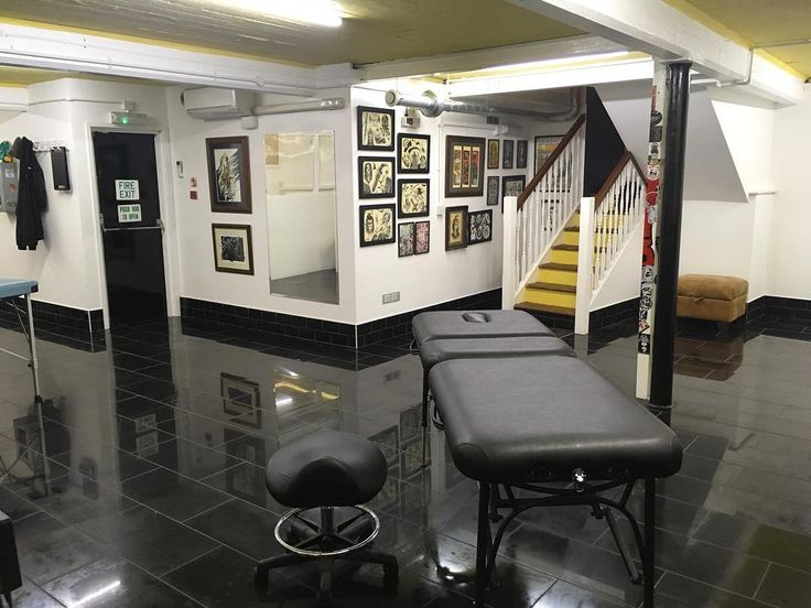 Tattoo studio basement renovation. Circle Of Swords, Worcester.