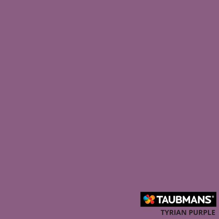 #Taubmanscolour #tyrianpurple