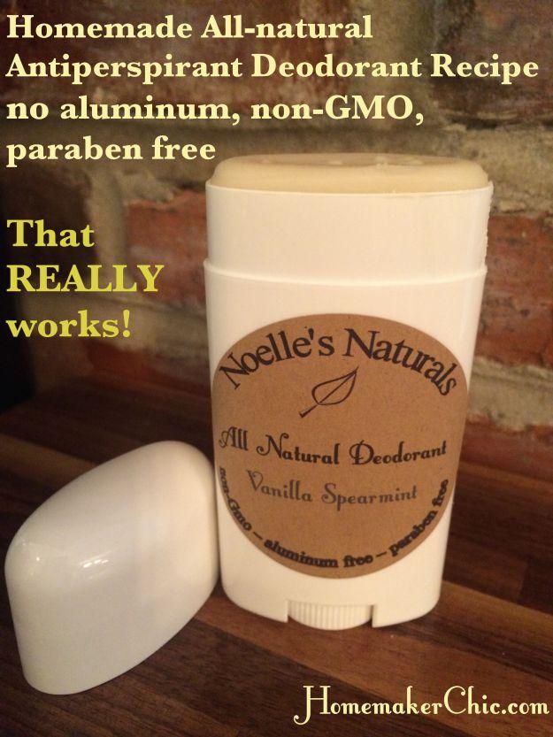 Homemade Natural Anti-perspirant Deodorant Recipe that REALLY works! | Homemaker Chic