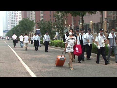 China blast residents evacuated over chemical fears