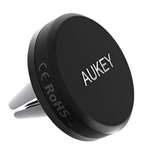 AUKEY Car Phone Mount, Air Vent Magnetic Phone Holder for iPhone 8 / 7 / 6, Samsung, LG, Nexus and More (Grey)