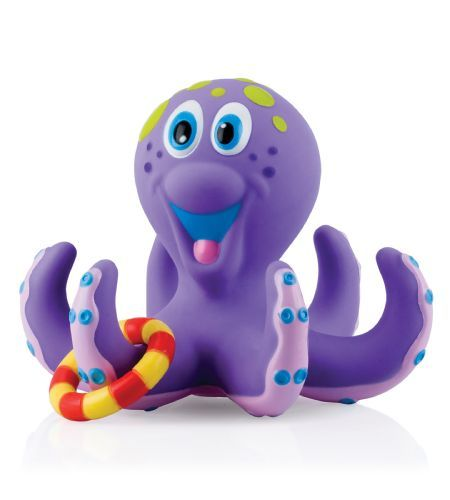 Nuby Bath Time Toss Octopus - Teach your child hand-eye coordination with this fun bath time toy.