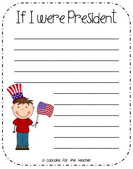 If I were President... writing prompt ... great to use for the elections this year!