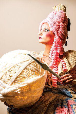 "Gina Rose Gallina #crochet #art exhibit ""Yarnolutionary"""