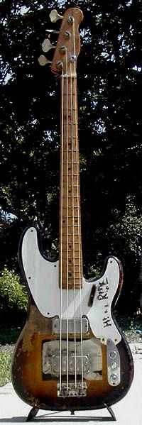 From Watt's Collection - 1956 fender precision bass  I f$&@ing love Mike Watt