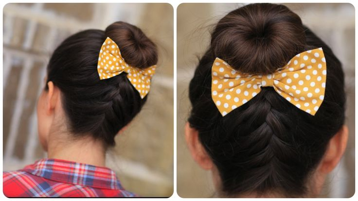 Upside Down French Braid Bun | Cute Girls Hairstyles
