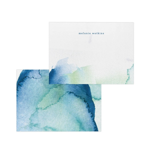 Pretty watercolor stationery- with different colors, it could totally work for our invites