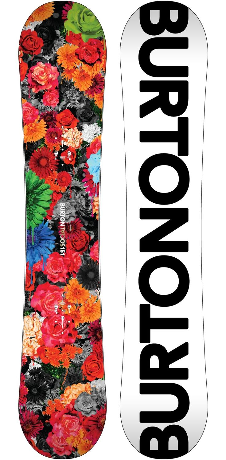 Women's snowboard Burton, model Social 151. This board is always ready to party thanks to its V-Rocker shape's catch-free ride, which is complemented by its soft twin flex and balanced twin shape.