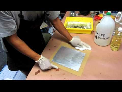How to Etch with White Vinegar (Kitchen Lithography Variation) - YouTube