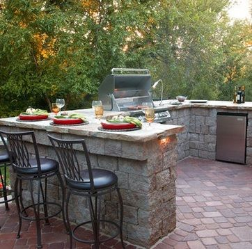 Outdoor Kitchen (add stainless steel cover for sink and counter top so insects don't get the food
