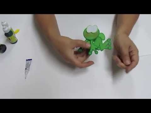 DIY Lapiz Pluma Sapito Filigrana en Foami, Goma Eva, Microporoso, Easy Crafts - YouTube