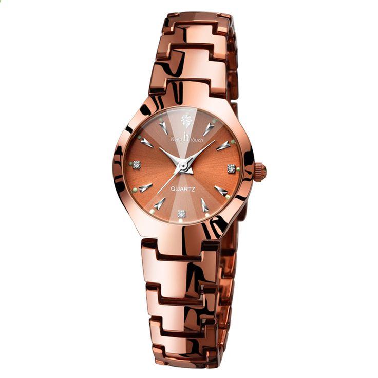 Роуз золото кварцові годинники жіночі плаття дизайнер розкіш бренд браслет наручний  годинник світлий стрази годинник жінка e6f9e2a22479e