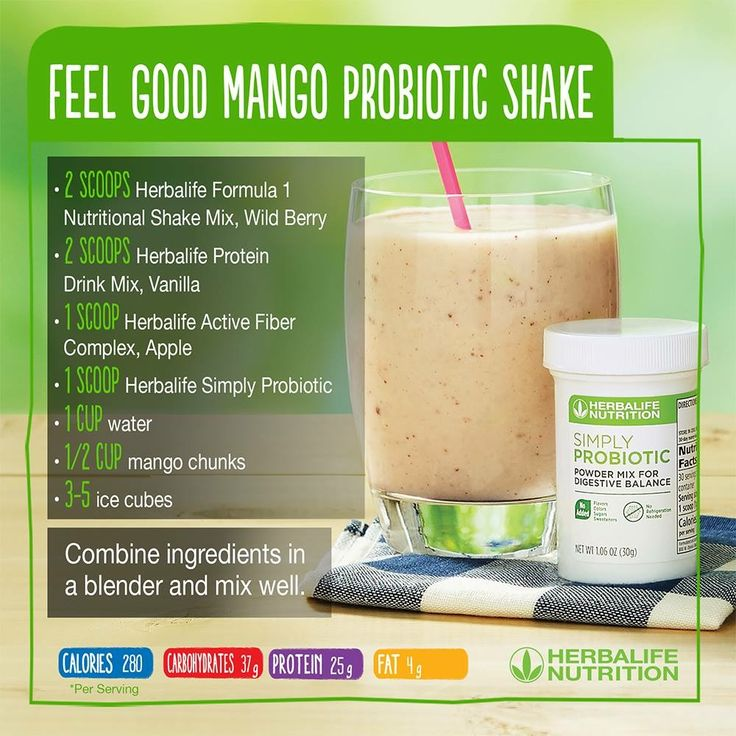 Feel Good Mango Probiotic Smoothie! This smoothie recipe uses our probiotics (that don't need to be refrigerated!) and will help you feel good! Contact me if you're #ShakeCurious and have questions about Herbalife. I'm an independent distributor and would