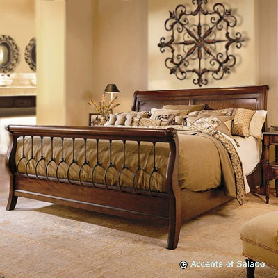 gold and tan master bedrooms minus the footboard find this pin and more on spanish style decor