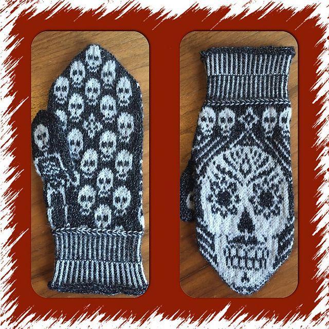 Ravelry: Sugar skull mittens pattern by JennyPenny