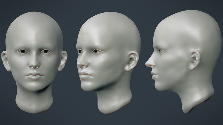 Female Face sculpture