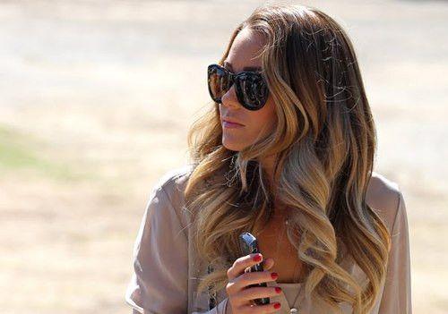 Glam waves <3Ombre Hair Colors, Big Curls, Summer Hair, Style Hair, Long Hair, Beautiful, Laurenconrad, Big Waves, Lauren Conrad