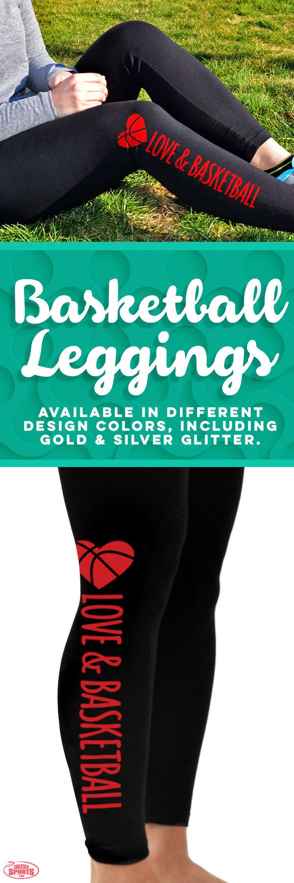 Our Love and Basketball leggings are comfortable and come in a variety of design colors including silver and gold glitter. Check out more of basketball leggings on our site.