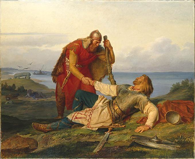 Mårten Eskil Winge - Parting From Orvar Odd After the Fight on Samso - 1866