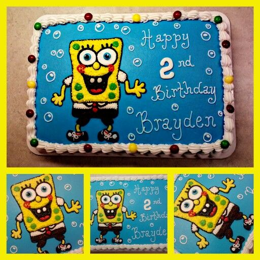 how to make a spongebob and patrick cake