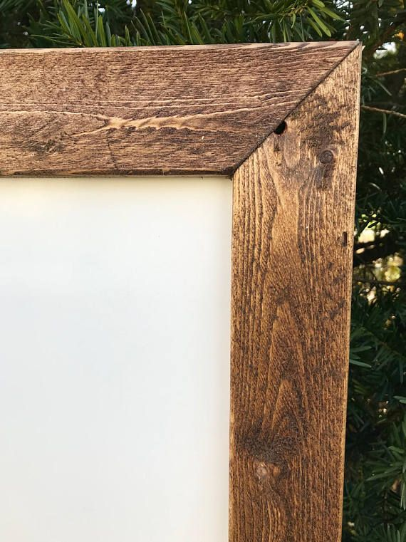 Large Whiteboard Rustic Whiteboard Frame Wooden Whiteboard