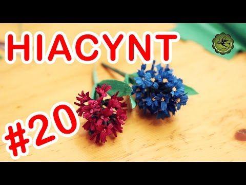 Kwiatki z bibuły #20 - hiacynt - YouTube