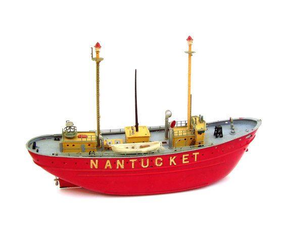 Vintage Nantucket lège bateau modèle bateau par OceansideCastle