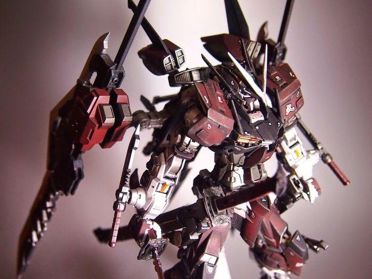 "MG 1/100 Gundam Astray Red Frame ""Shinobu"" Custom Build  by ks19870206    Great modification! I like the rusty color scheme of this Astray! ..."