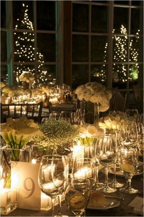 Flower And Lights Centerpiece Christmas ☃️☃️ Winter