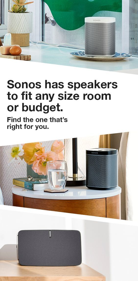 Bedroom. Kitchen. Living room or bathroom. If you have a room, there's a Sonos wireless speaker that will sound great in it. Find the one that's right for you.