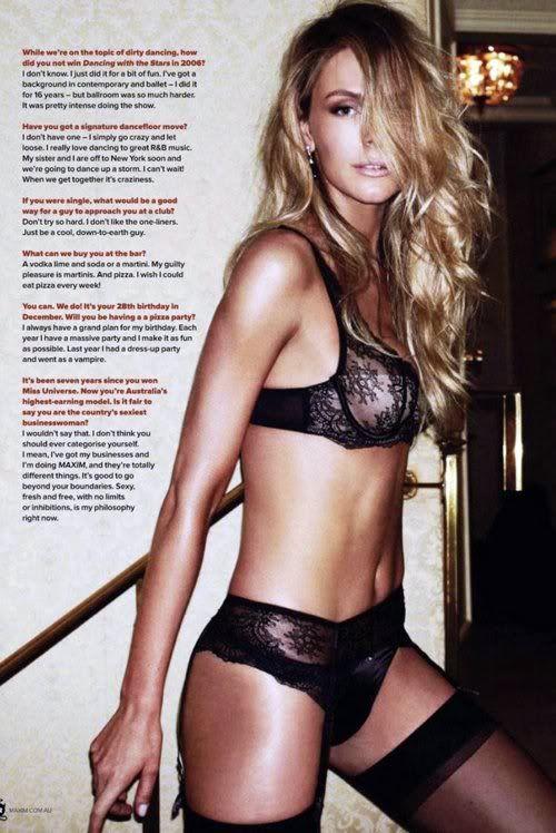 Jennifer Hawkins- Maxim Australia Cover