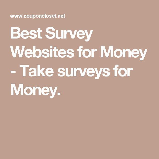Best Survey Websites for Money - Take surveys for Money.